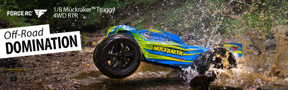 1/8-Scale Muckraker 4WD Truggy RTR