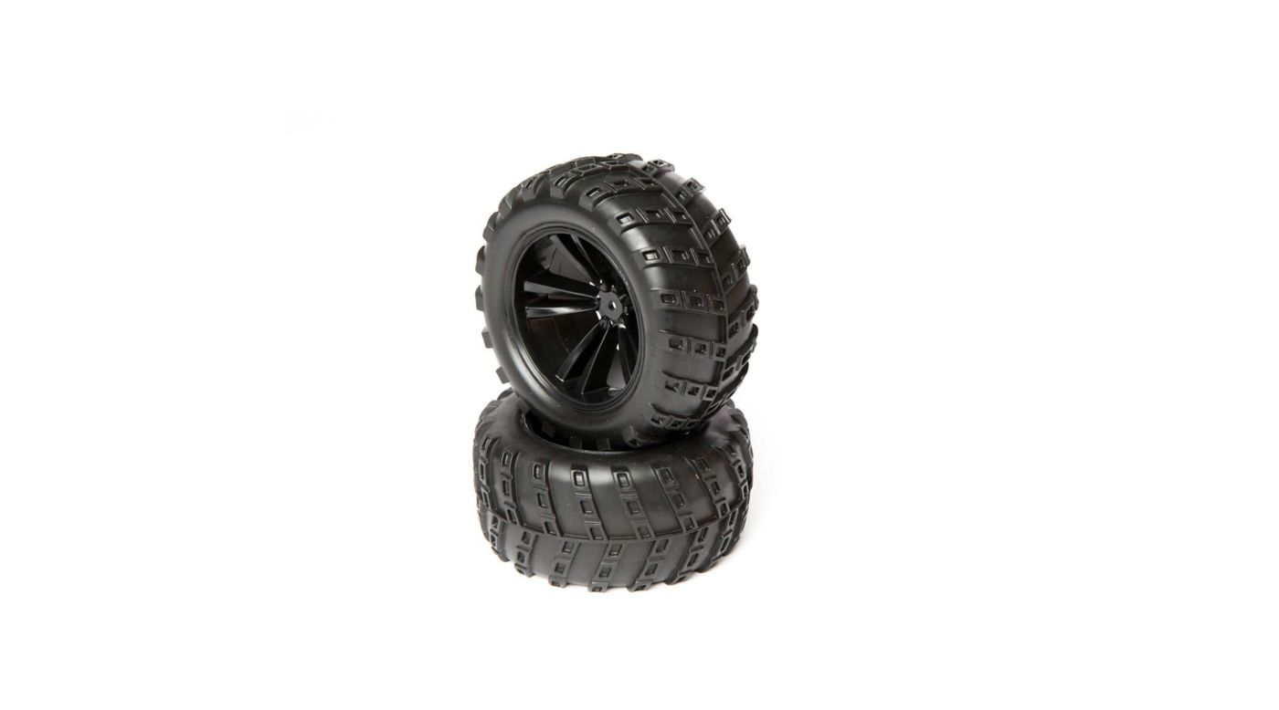 Image for Wheel and Tire Set (2): 1/10 4WD Outbreak from HorizonHobby