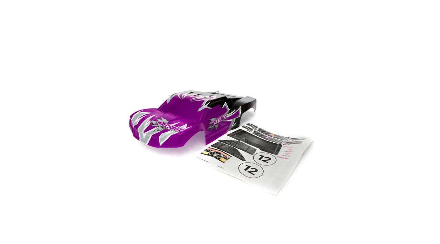 Image for Body: 1/10 Warhawk, Purple/Black from HorizonHobby