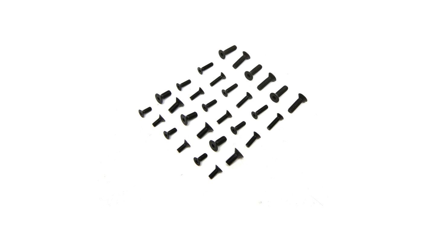 Image for Flat Head Screw Set (30): 1/8 Epidemic, 1/8 Muckraker from HorizonHobby