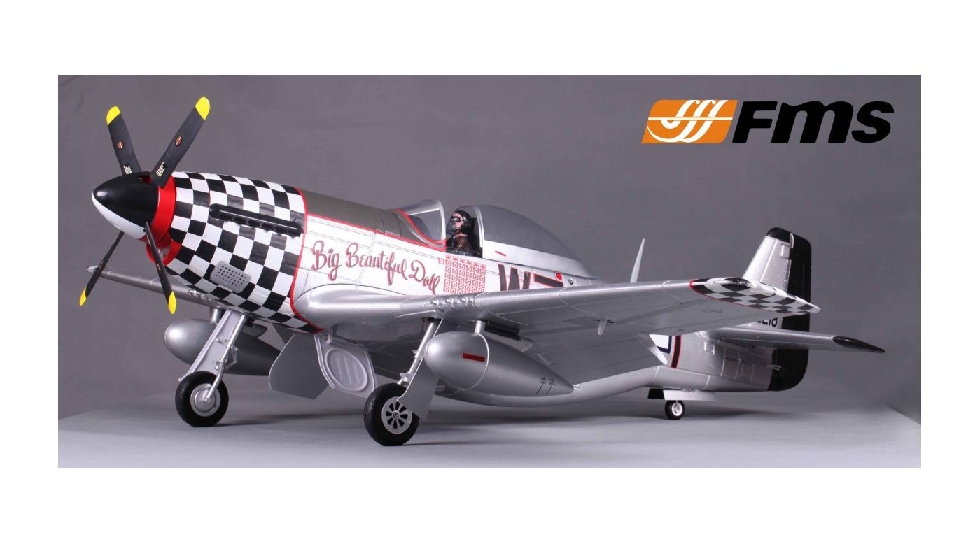 Image for P-51D Big Beautiful Doll PNP V8, 1450mm from HorizonHobby