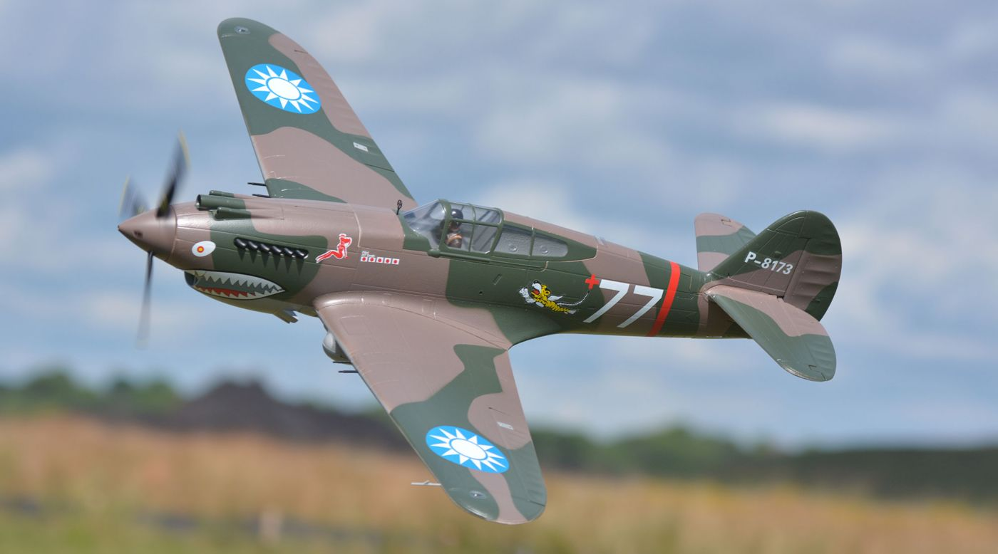 Image for P-40B Tomahawk PNP, 1400mm: Flying Tigers from HorizonHobby