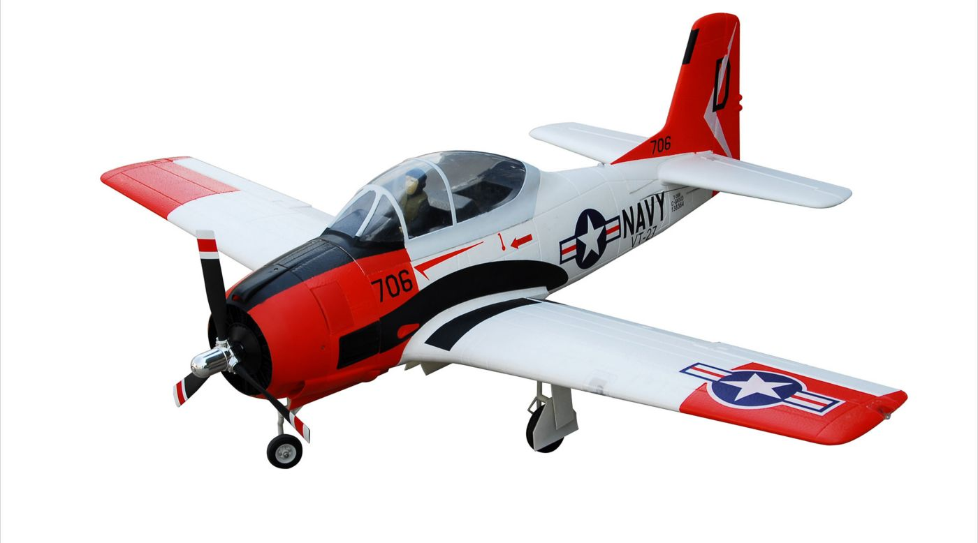 Image for T-28D Trojan V4 Red PNP, 1400mm from HorizonHobby