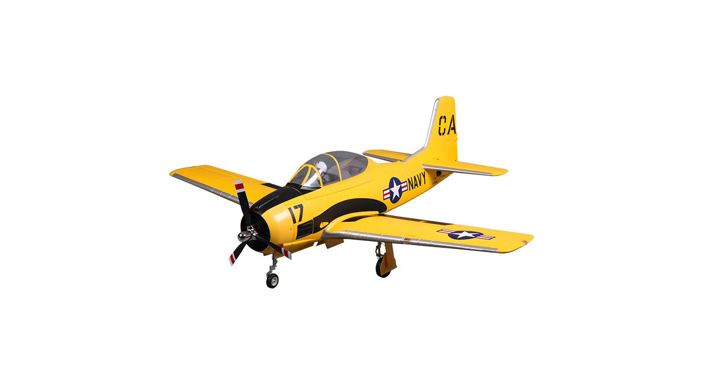 Image for T-28D Trojan V4 PNP, 1400mm: Yellow from HorizonHobby