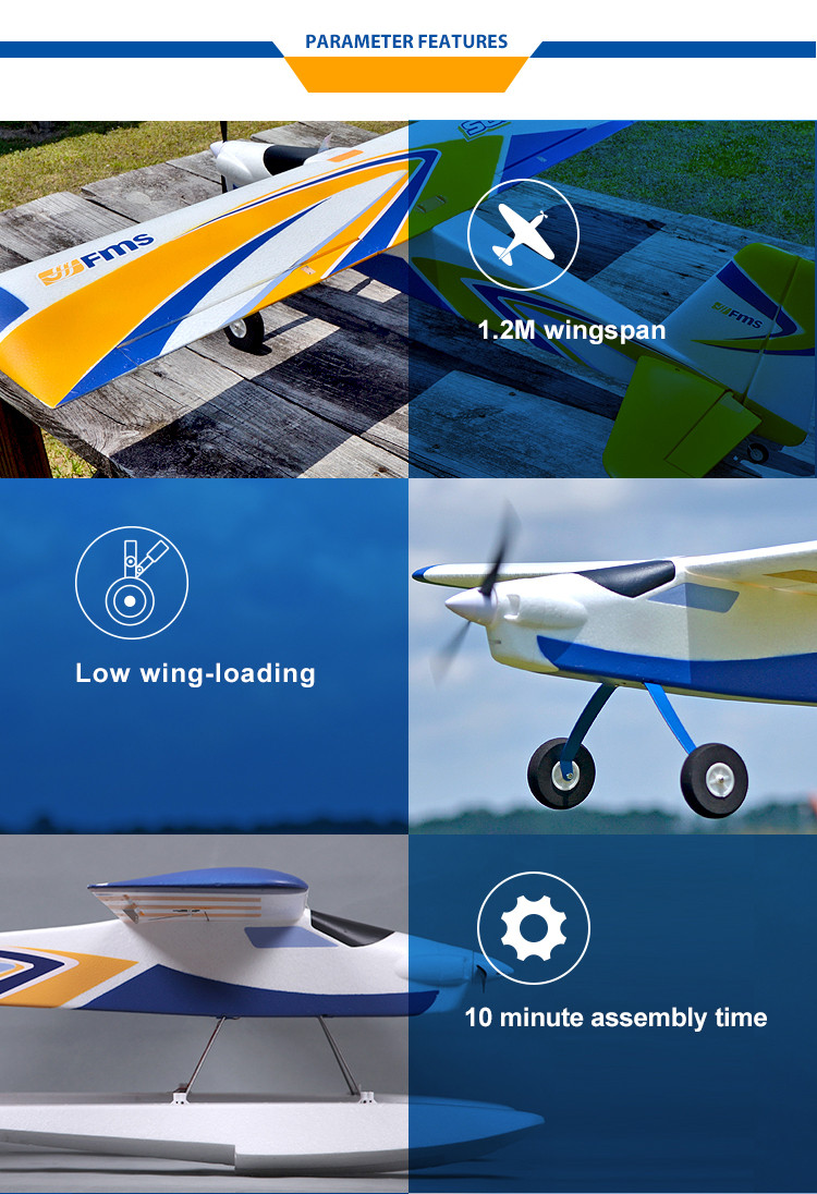 FMS Models RC Airplane with Floats