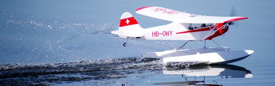 FMS Piper J-3 Cub V3 PNP with Floats
