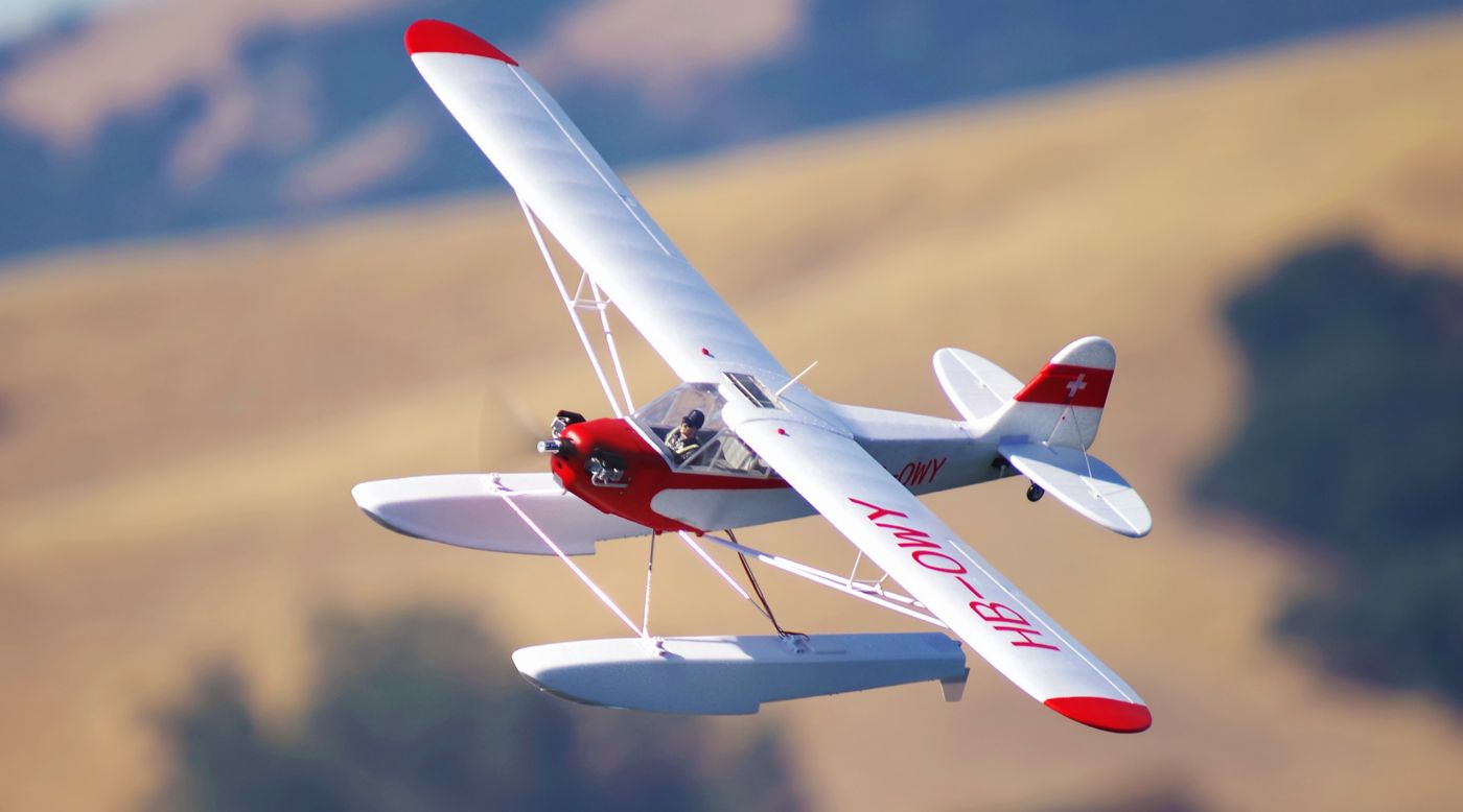 Image for Piper J-3 Cub V3 PNP with Floats, 1400mm from HorizonHobby