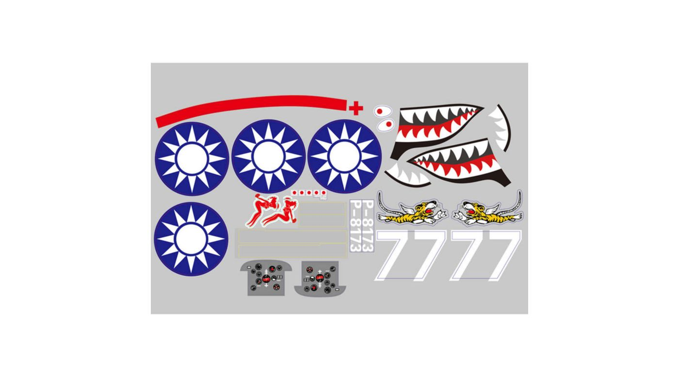Image for Decal Sheet: 980mm P-40 from HorizonHobby