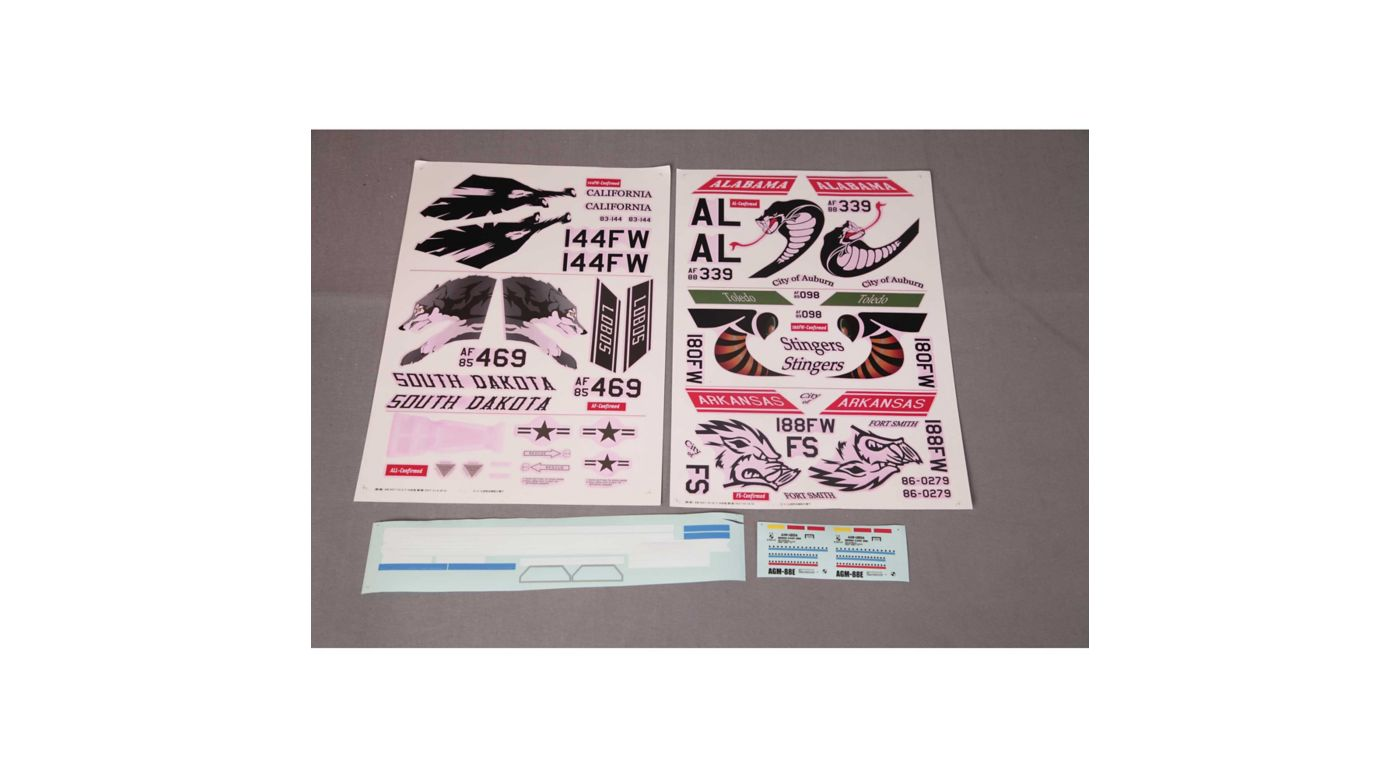 Image for Decal Sheet: F-16C 70mm from HorizonHobby