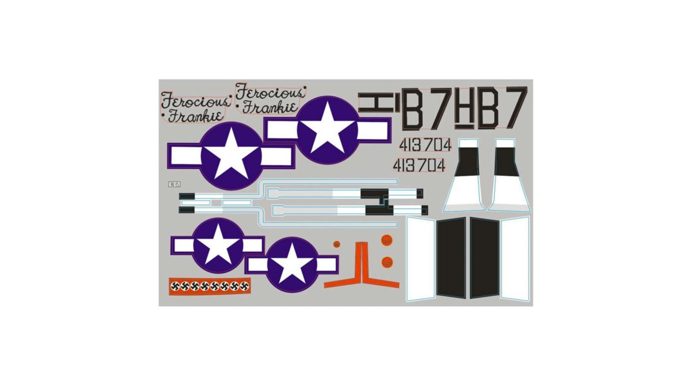 Image for Stickers  P51D Frankie 1700mm from HorizonHobby