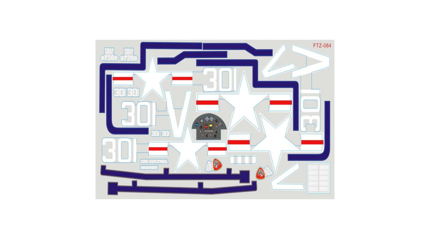 Image for Decal Sheet: F4U 1700mm, Blue from HorizonHobby