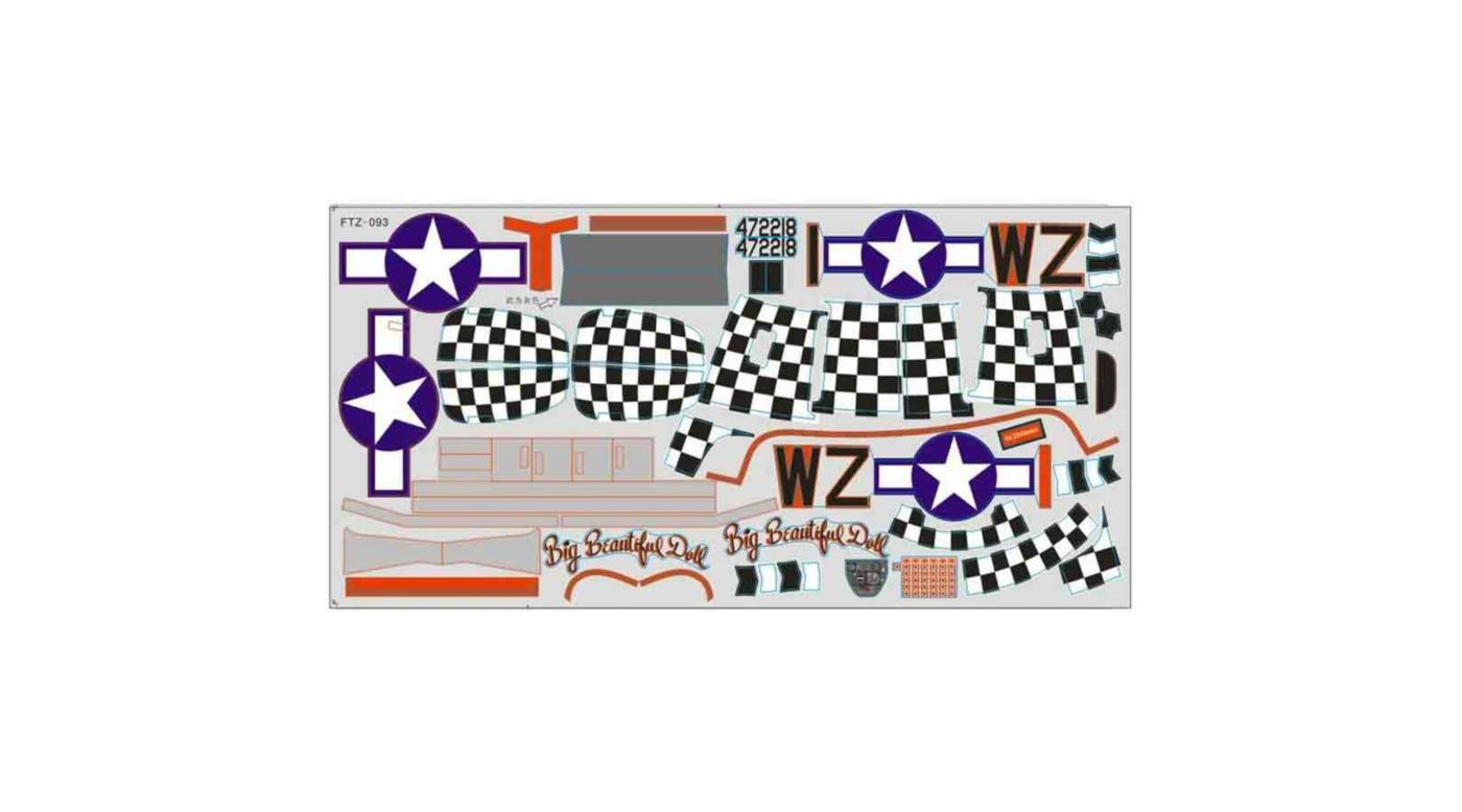 Image for Decal  P51D BBD 1400mm V7 from HorizonHobby