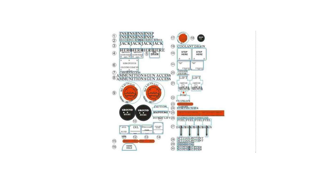 Image for Decal Sheet: P51D 1400mm V7 from HorizonHobby