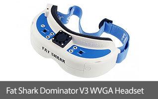 Fat Shark Dominator V3 Modular WVGA FPV Headset Goggles