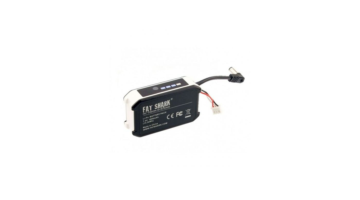 Image for 7.4V 1800mAh Battery Pack with LED Indicator from HorizonHobby