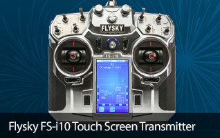 Flysky i10 Color Touch Screen Transmitter Receiver 2.4GHz Aircraft Radios Controller