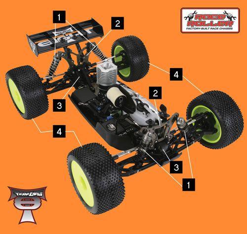 Losi     Fr//R CV Driveshaft Set Losi  LOSA3519 8T 2
