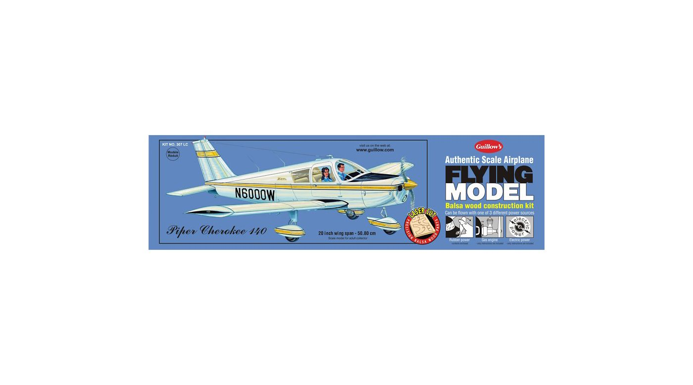 Image for Piper Cherokee 140 Laser Cut from HorizonHobby