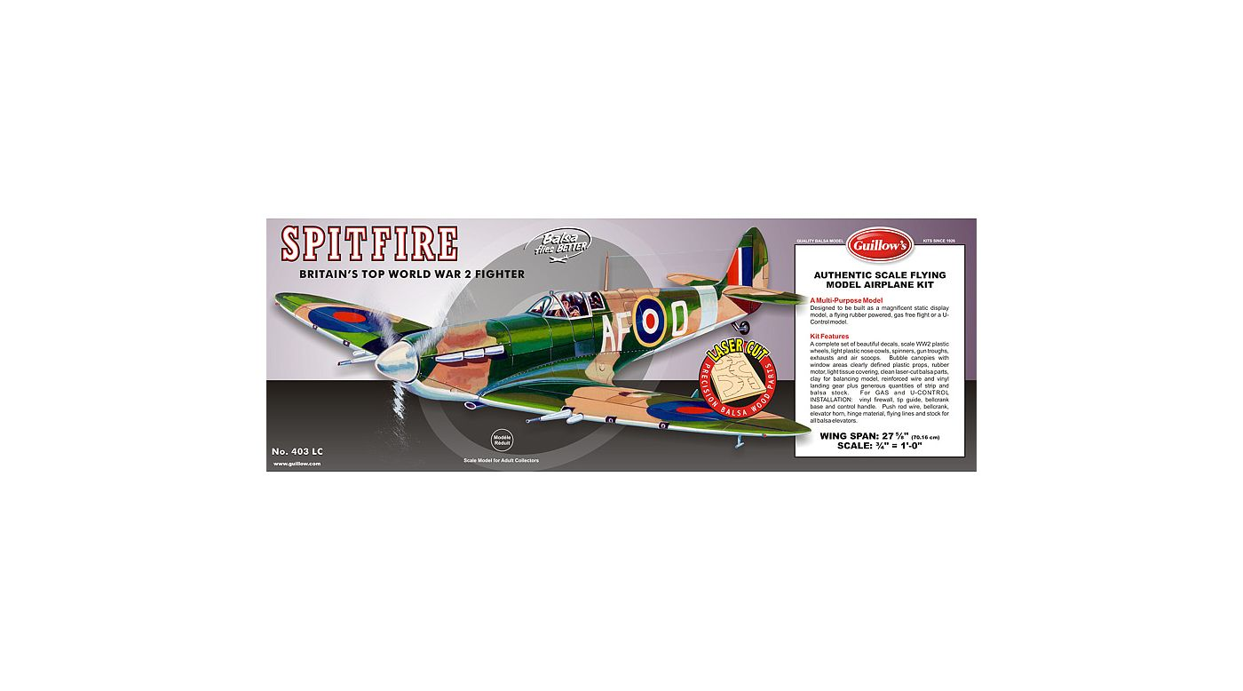 Image for Supermarine Spitfire Laser Cut from HorizonHobby