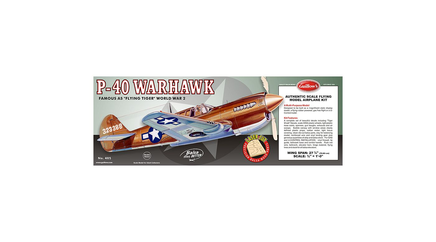 Image for Curtiss P40 Warhawk Laser Cut from HorizonHobby