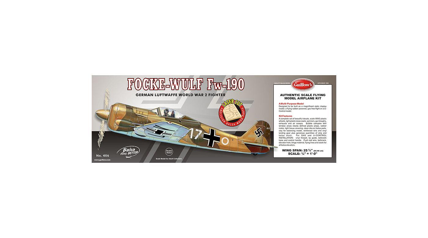 Image for Focke-Wulf 190 Laser Cut from HorizonHobby