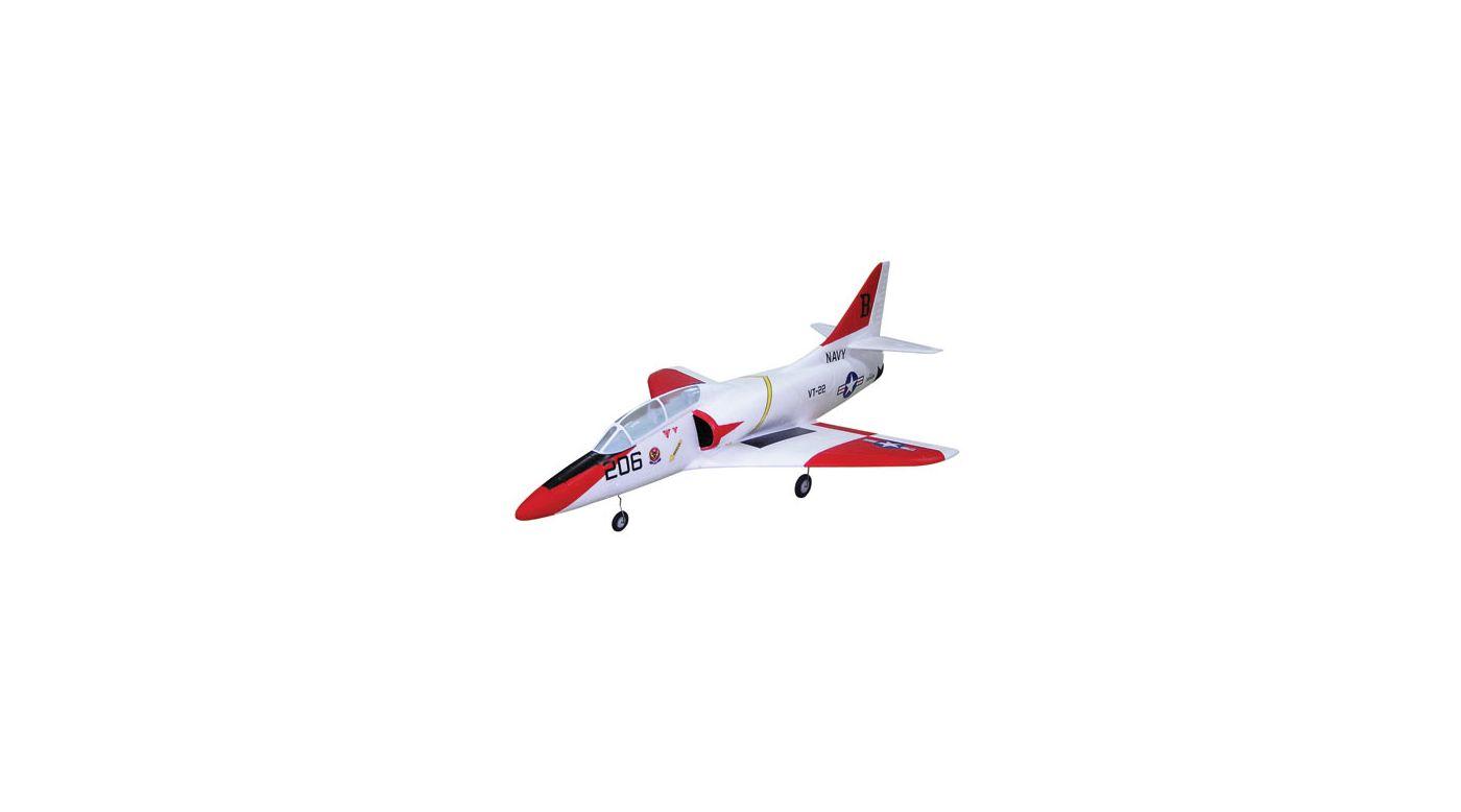 GWS-A4 ARF Jet with EDF75, BL2815, White | HorizonHobby