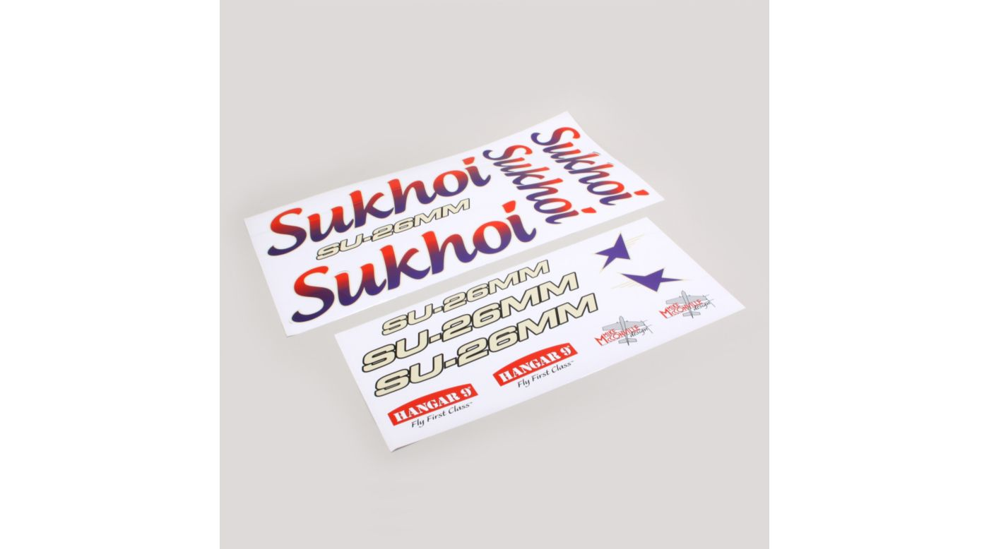 Image for Decal Sheet: 3.1m Sukhoi SU-26MM from HorizonHobby