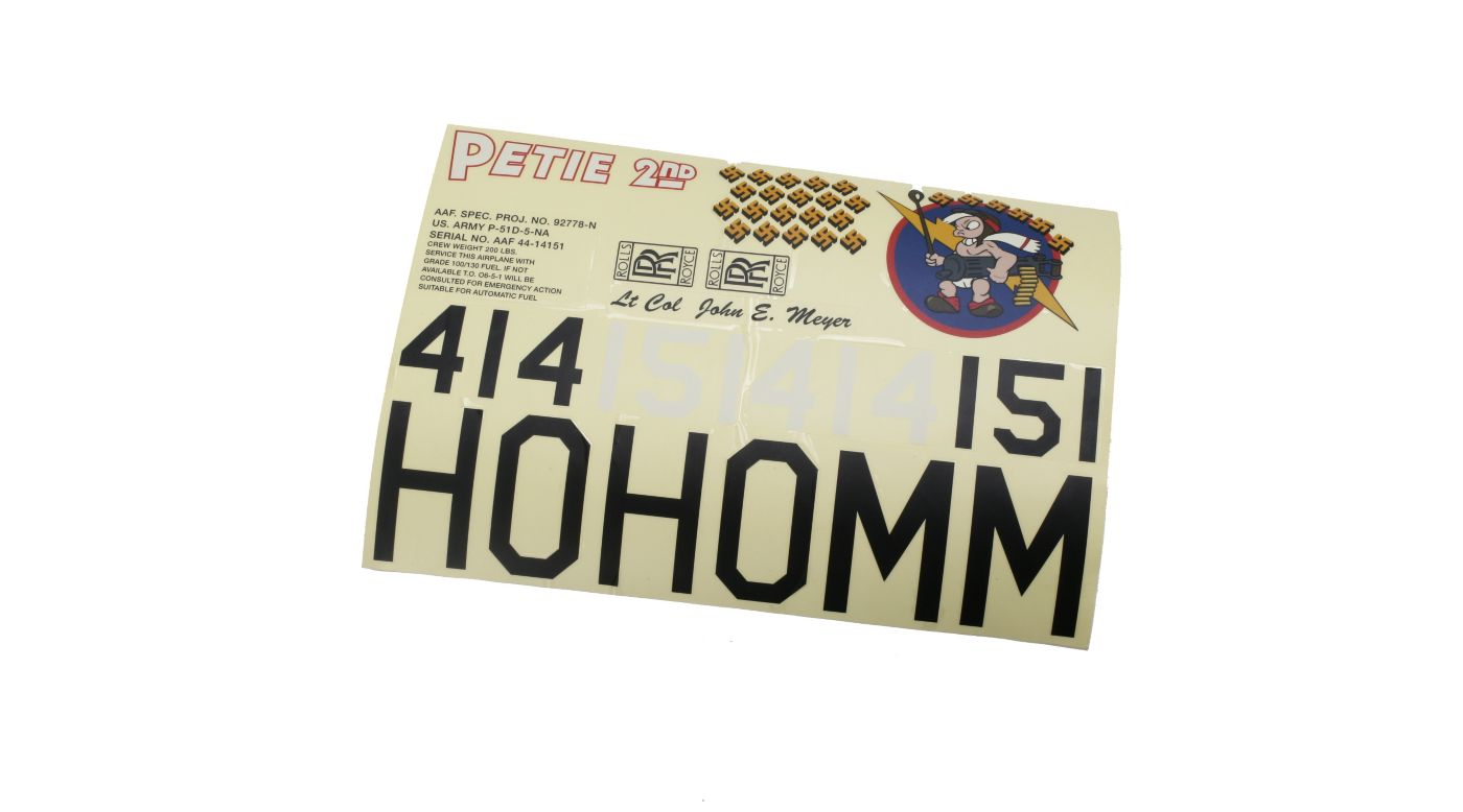 Image for Decals Petie 2nd, w with Swastika, P-51 60 Blue Nose ARF from HorizonHobby