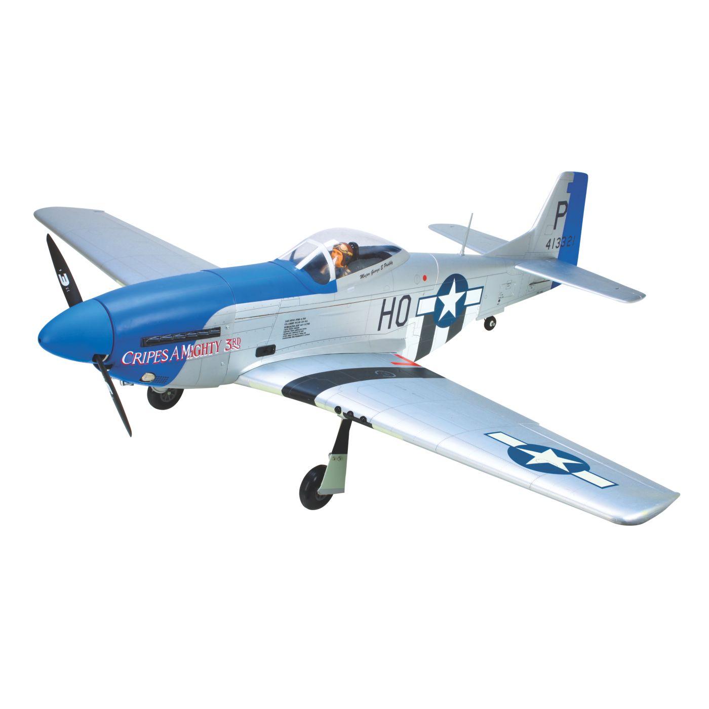 Hangar 9 P 51d Blue Nose 60 Arf Airplane Horizon Hobby