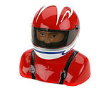 Hangar 9 - 35%-40% Painted Pilot Helmet Red/White/Blue