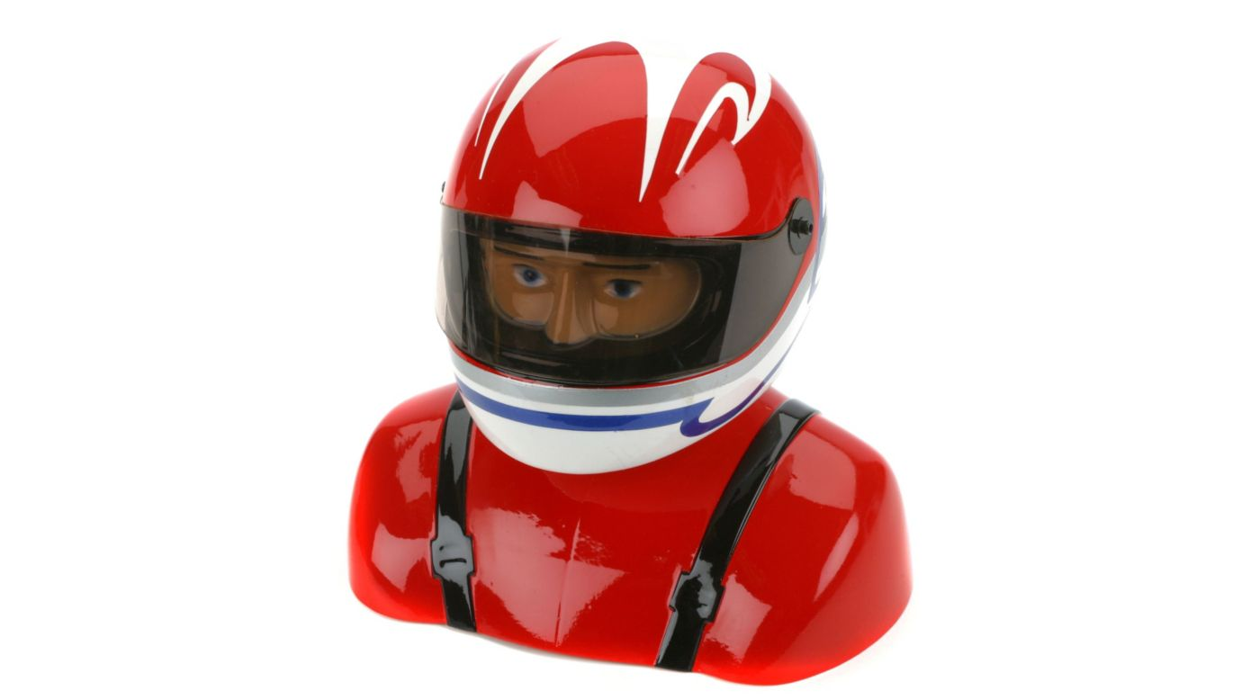 Image for 35%-40% Painted Pilot Helmet Red/White/Blue from HorizonHobby