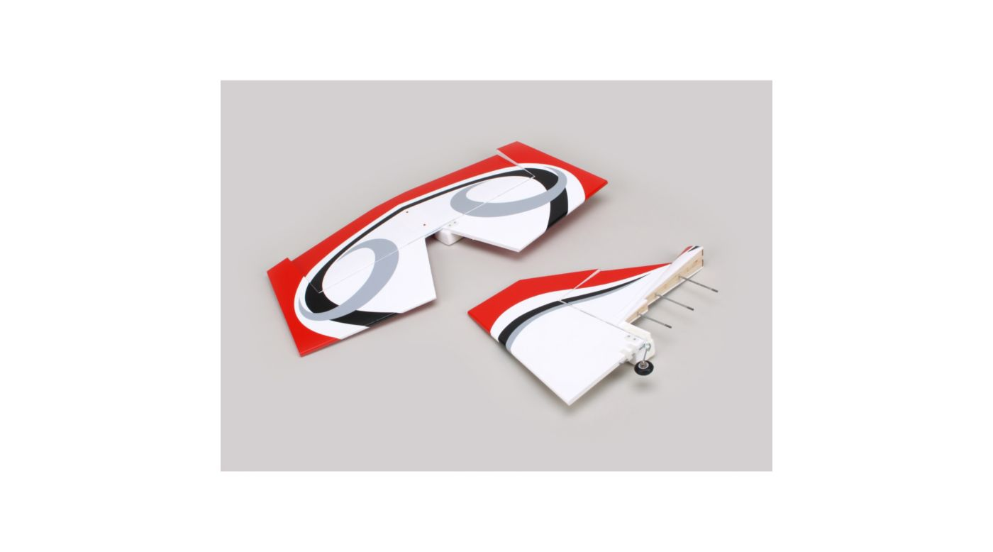 Image for Twist 60 (True Red) Tail set w/ Elev, Fin, Rudder from HorizonHobby