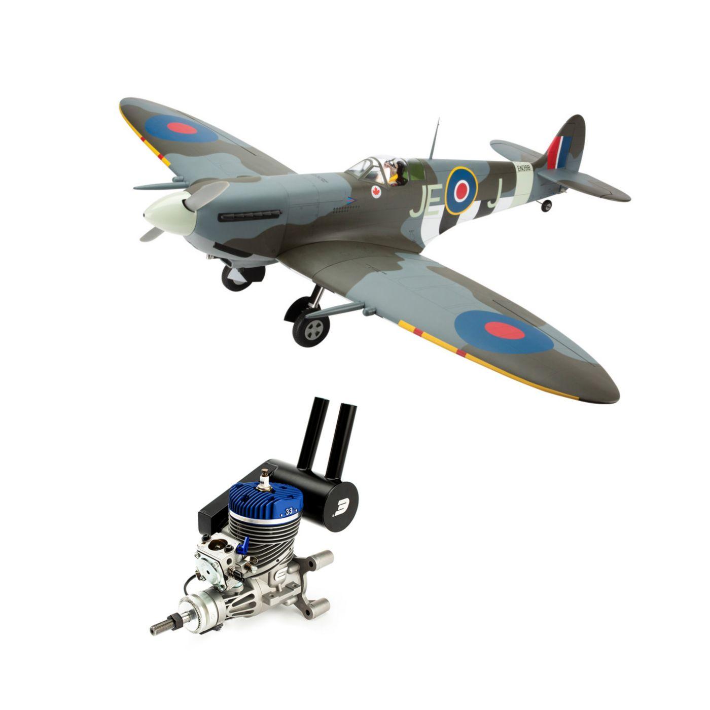 Spitfire Mk IXc 30cc ARF with Evolution 33GX Gas Engine  (HAN4495CE)