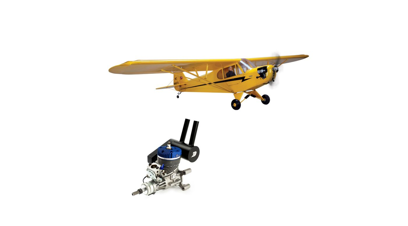Image for 1/4 Scale J-3 Cub with 33GX Gas Engine from HorizonHobby
