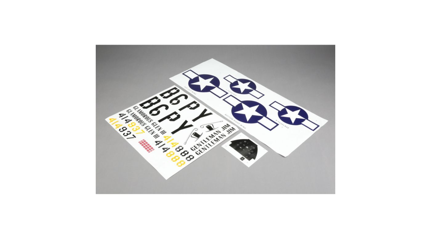 Image for Decals: P-51D 60cc from HorizonHobby