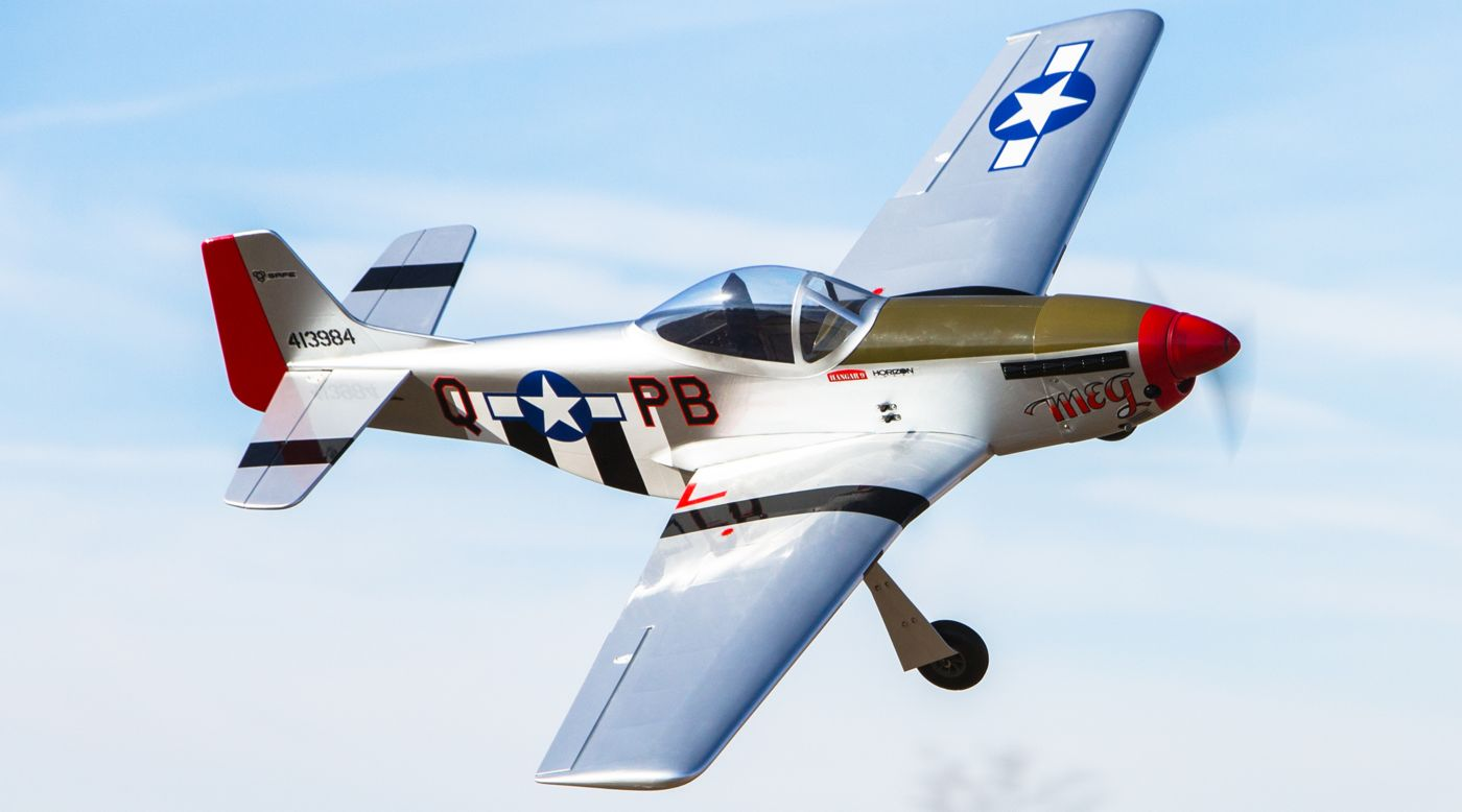Image for P-51 Mustang S 8cc BNF Gas Trainer with SAFE® 54.7