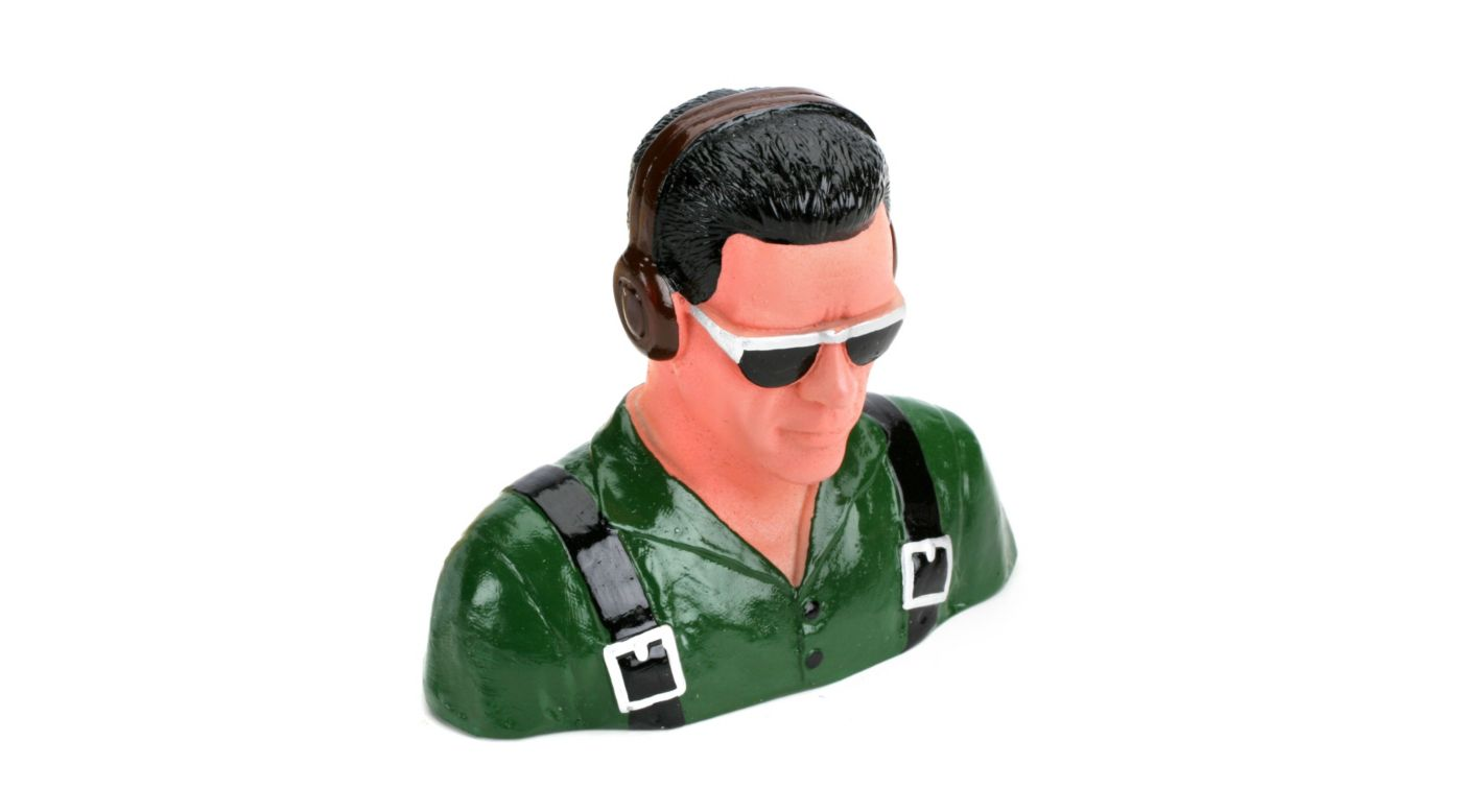 Image for 1/5 Pilot, Civilian w/Headphones & Sunglasses(Grn) from HorizonHobby
