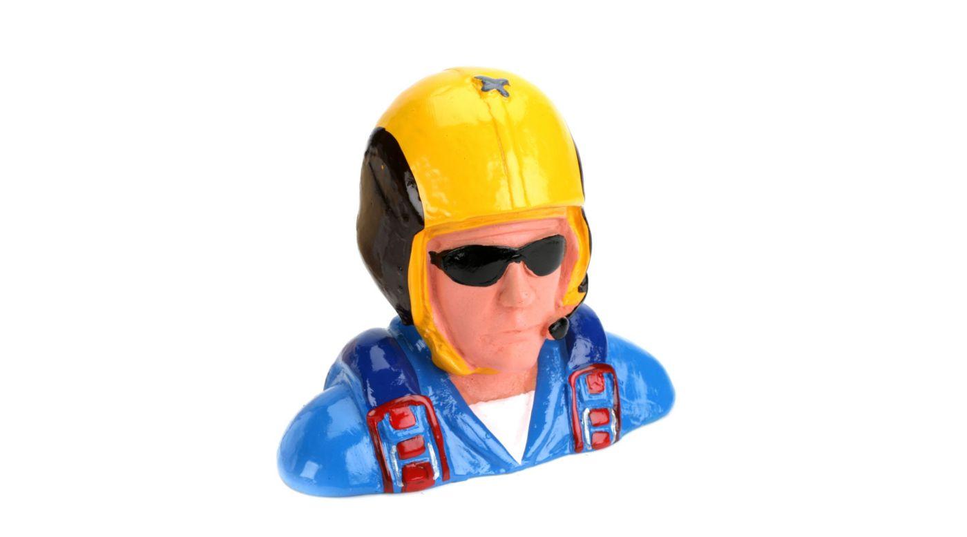 Image for 1/4 Pilot, Civilian Aerobatic Helmet,w/Mic&Snglss from HorizonHobby
