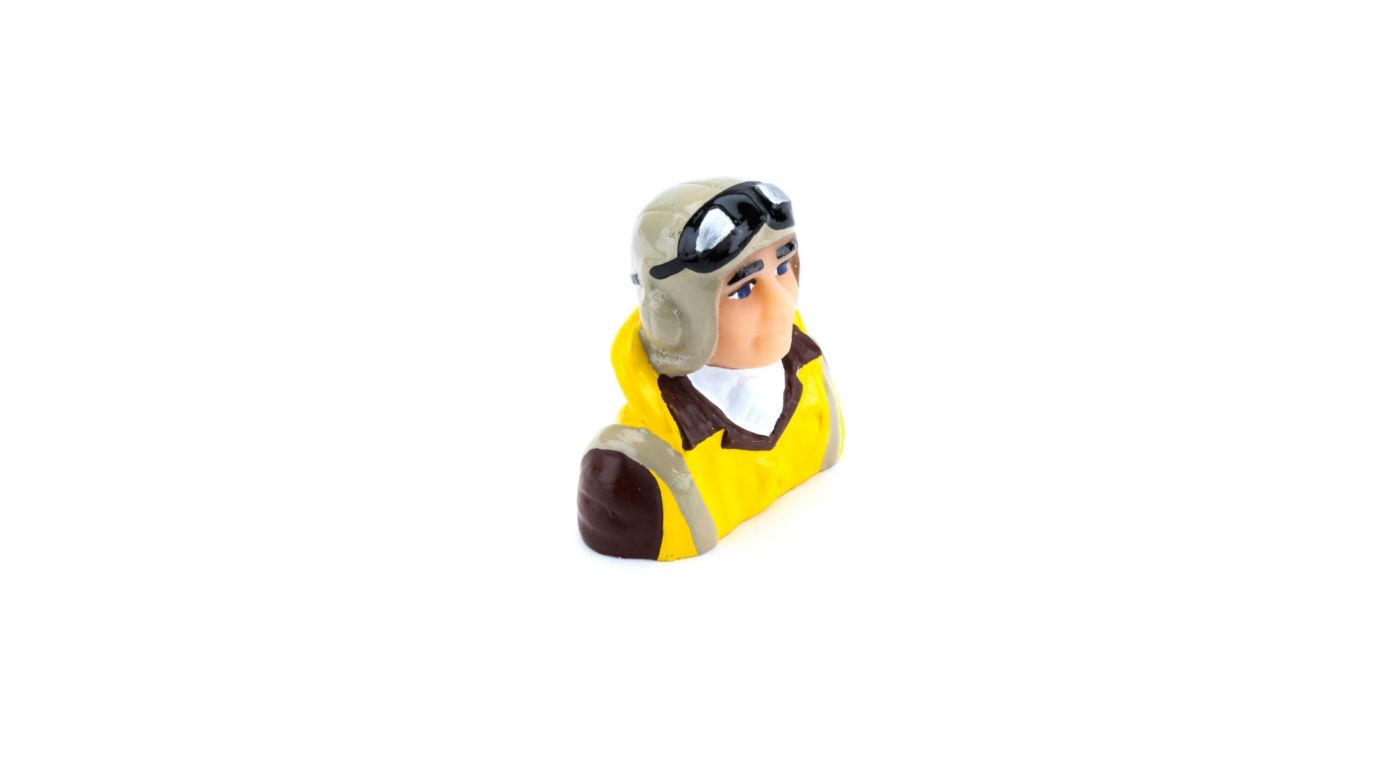 Image for 1/8 Scale WWII Pilot with Vest, Helmet, Goggles from HorizonHobby