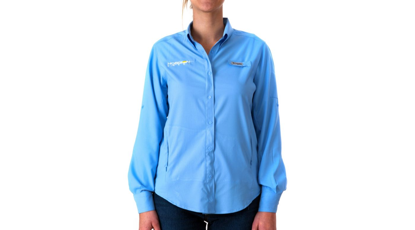 Image for Women's Tamiami II Long Sleeve Shirt, Blue, Small from HorizonHobby