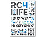 Horizon Hobby - I Support My Hobby Shop Fundraiser Sticker Sheet