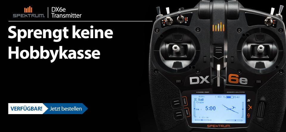 Spektrum DX6e 6Kanal Fernsteuerung mit AR610 Empfänger