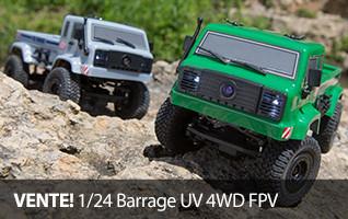 VENTE! ECX 1/24 Barrage Utility Vehicle 4WD FPV RC mini crawler