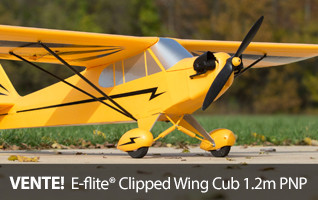 Save on the E-flite Clipped Wing Cub 1.2m PNP!