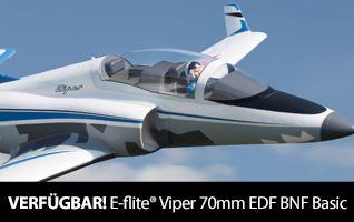 E-flite Viper 70mm EDF Jet BNF Basic RC Airplane