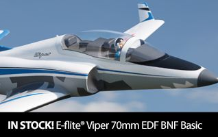 E-flite Viper 70mm EDF Jet BNF Basic RC Airplane