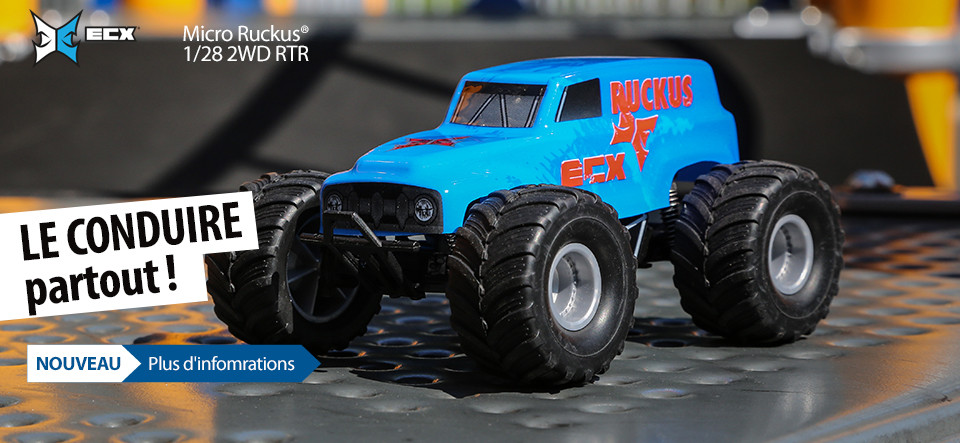 ECX 1/28 Micro Ruckus & Roost 2WD RTR