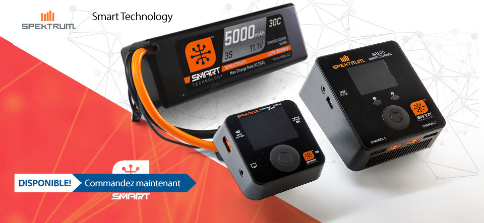 DISPONIBLE Spektrum Smart technology batteries and chargers