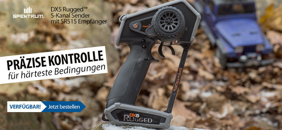 Verfügbar! Spektrum DX5 Rugged DSMR TX with SR515