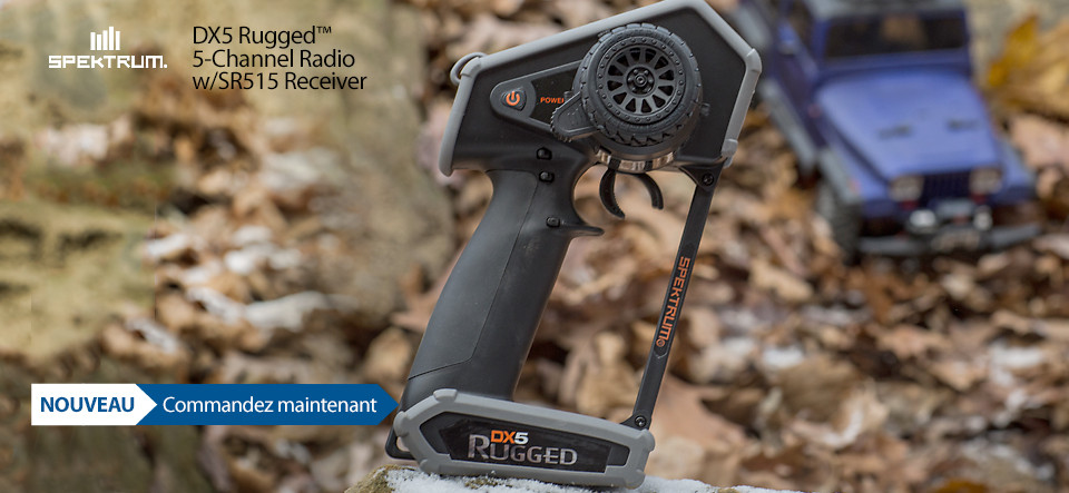 NOUVEAU! Spektrum DX5 Rugged DSMR TX with SR515